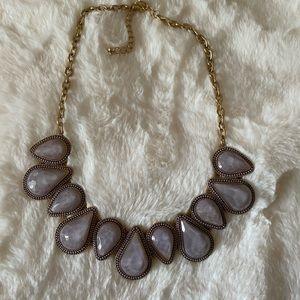 francesca's purple statement necklace